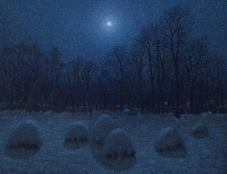 иван марчук, картина, чары лунной ночи
