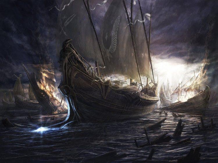 Остров погибших кораблей, Беляев