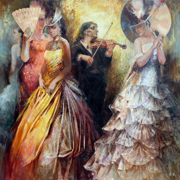 Паганини, картина, женщины, музыка