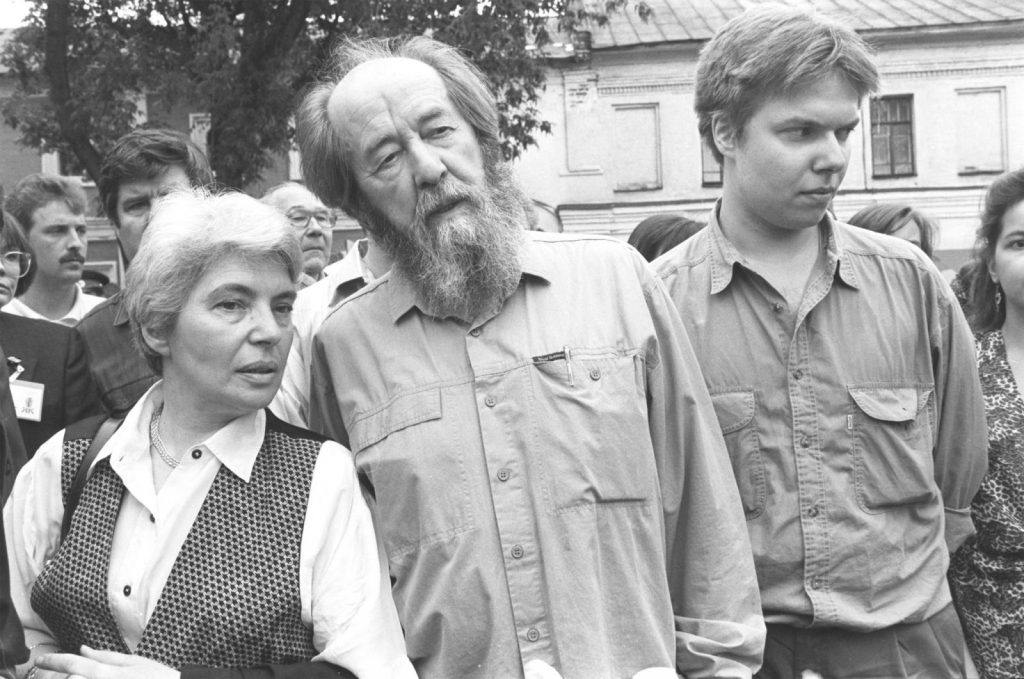 Солженицын с семьей