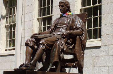 Гарвард, Джон Гарвард, статуя, памятник, биография