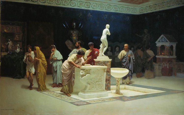 Картина Степана Бакаловича, В приемной у Мецената