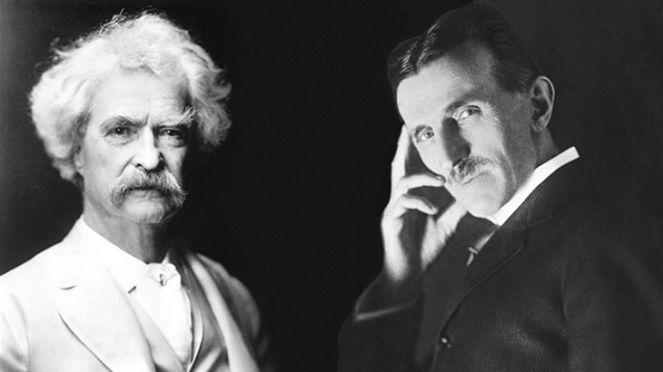 Биография Твена, Твен и Тесла