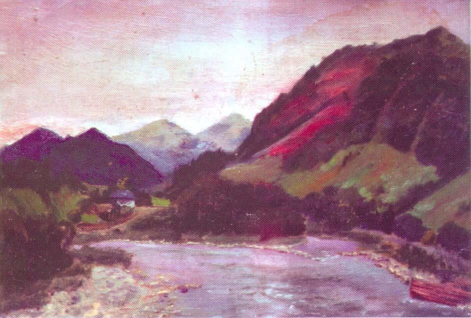гнат хоткевич, гуцульщина, карпаты, львовский национальный художественный музей, картина, живопись, искусство