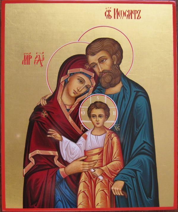 Иосиф Обручник, Святое семейство, икона