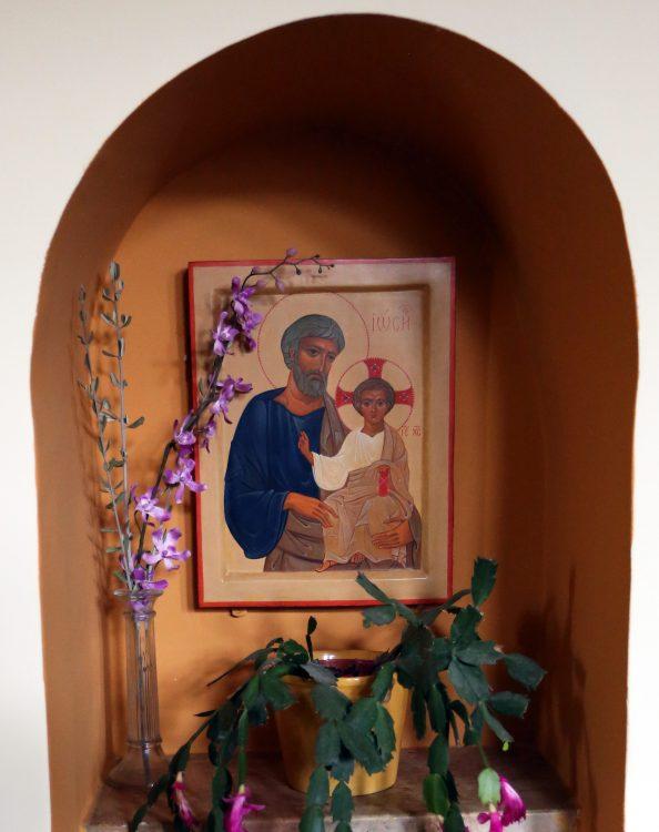 Иосиф Обручник, Иисус, икона