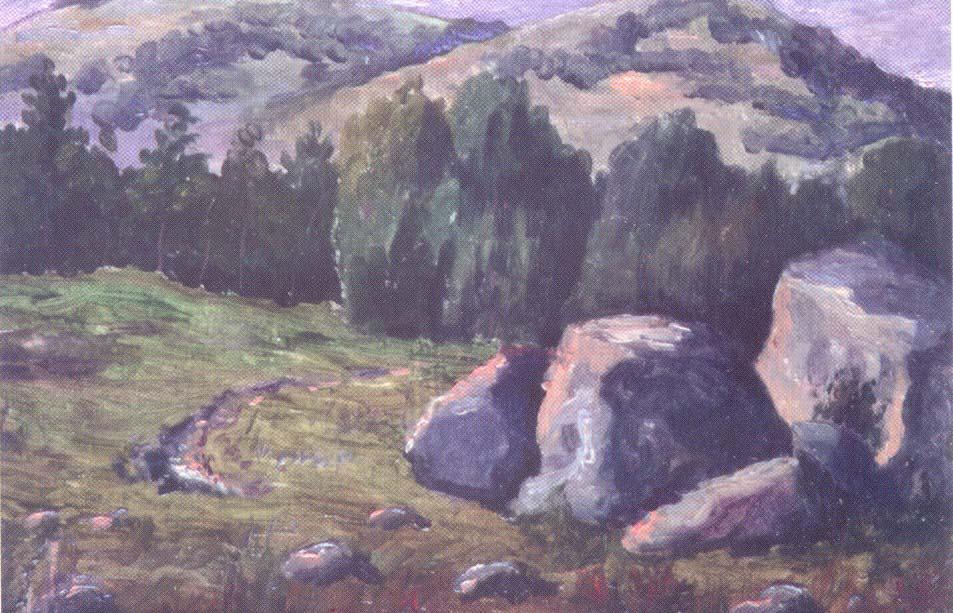 гнат хоткевич, гуцульщина, карпаты, львовский национальный художественный музей, картина, живопись, искусство, пейзаж