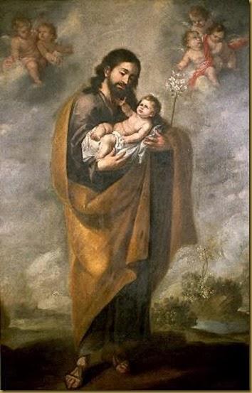 Бартоломе Мурильо, картина, Святой Иосиф и Младенец Христос