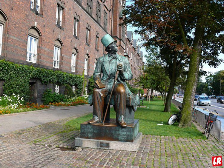 Андерсен, биография Андерсена, памятник Андерсену, Копенгаген, Дания
