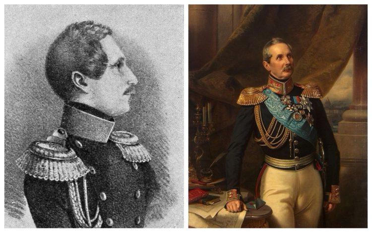 граф Клейнмихель, портрет, коллаж