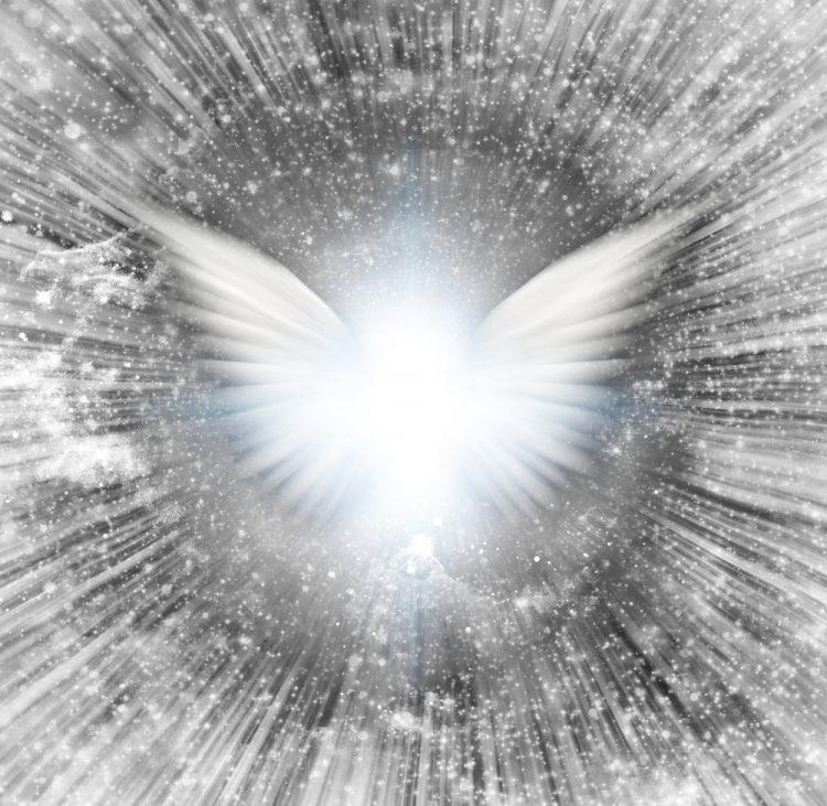 Смартфон для ангела, ангел, свет, небеса