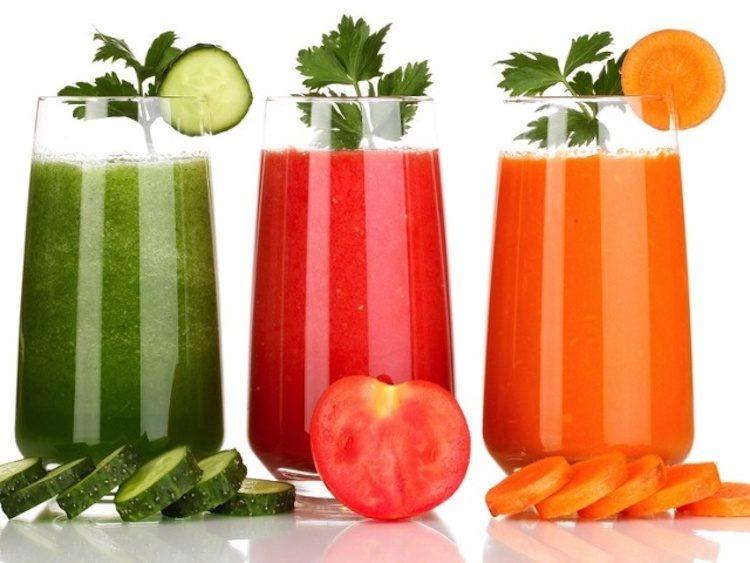правильное питание в праздники, смузи из овощей