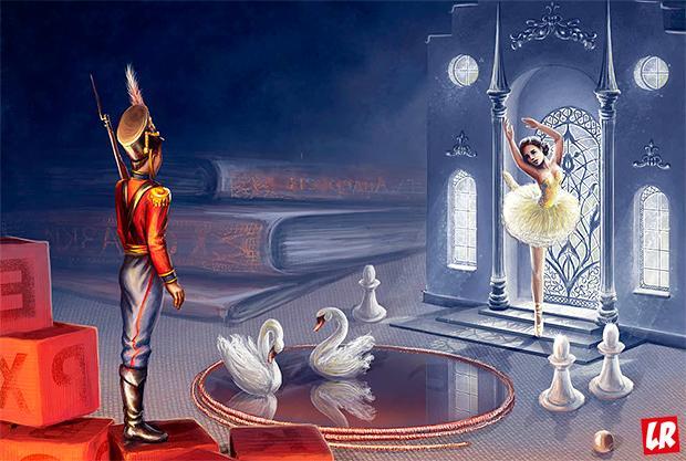 Андерсен, биография Андерсена, сказка, Стойкий оловянный солдатик, лебеди, иллюстрация