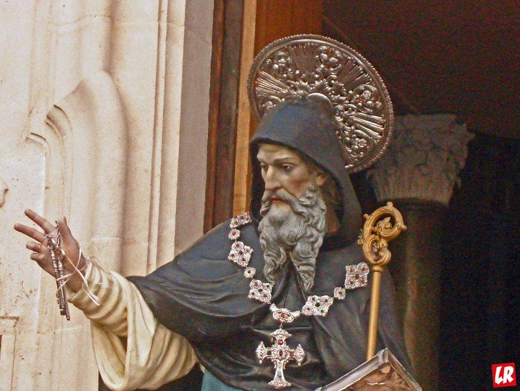 Варсонофий Великий, Ория, Италия, статуя