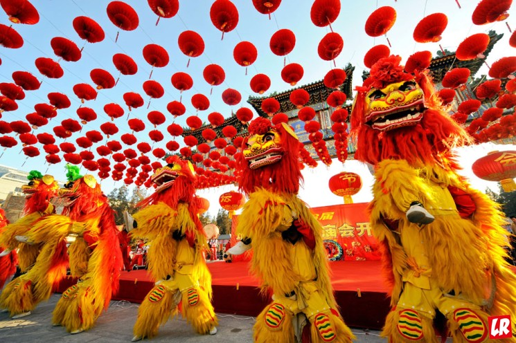 фишки дня - 16 февраля, китайский Новый год, танец льва