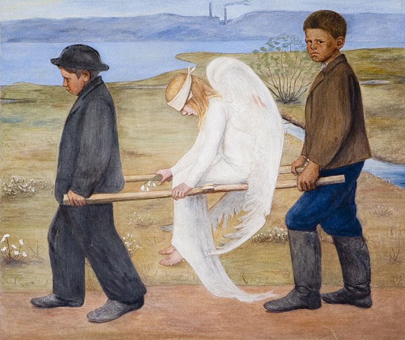 картина Раненый ангел, Тринадцатый ангел глава 10, Тринадцатый ангел, христианское фэнтези