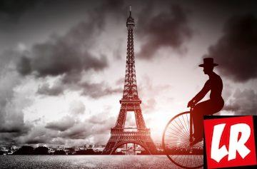 Париж, Эйфелева башня, велосипед