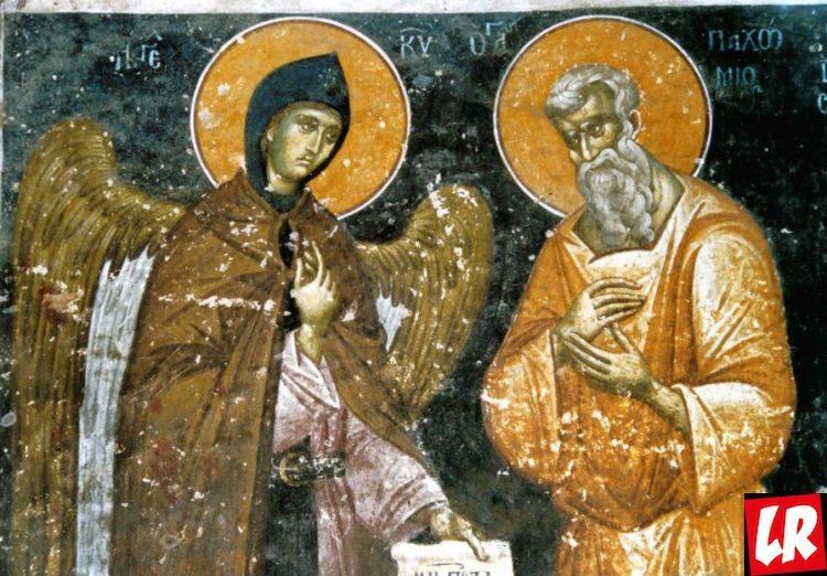 Пахомий Великий, религия, икона, ангел