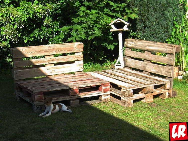 Сад в скандинавском стиле, мебель