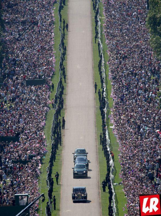 свадьба принца Гарри, кортеж