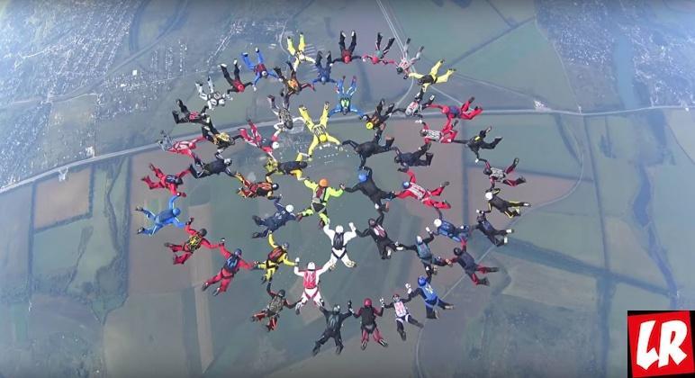 52 скайдайвера, Нестеров, история авиации
