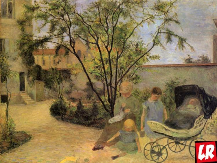 Поль Гоген, художник в семейном саду (1881 г.); холст, масло, Копенгаген.
