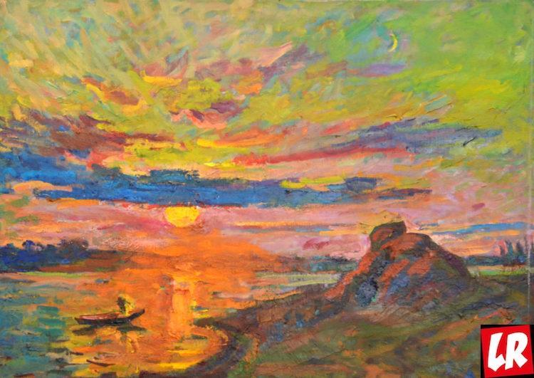 арт, море, рассвет, пейзаж, Василий Забашта, художник, море, живопись, Украина, выставка