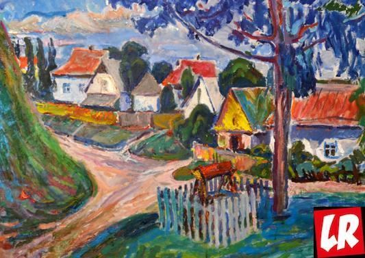 украинское село, пейзаж, Василий Забашта, художник, море, живопись, Украина