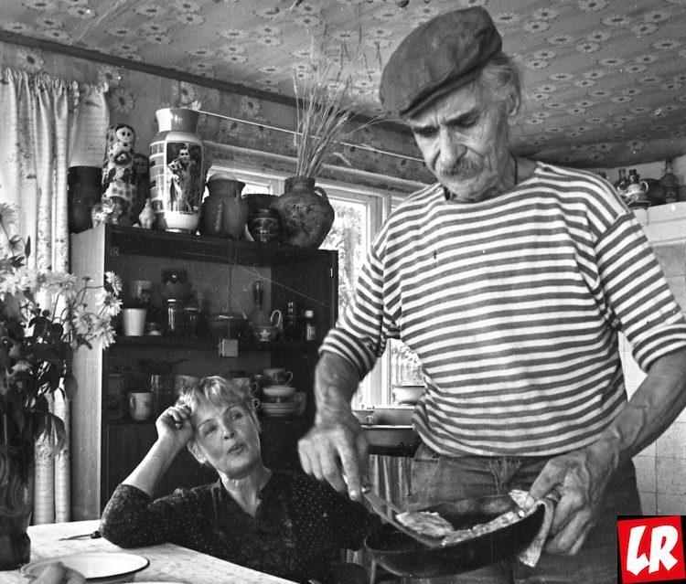Ада Роговцева, муж, Константин Степанков, дача, семейная пара, ретро