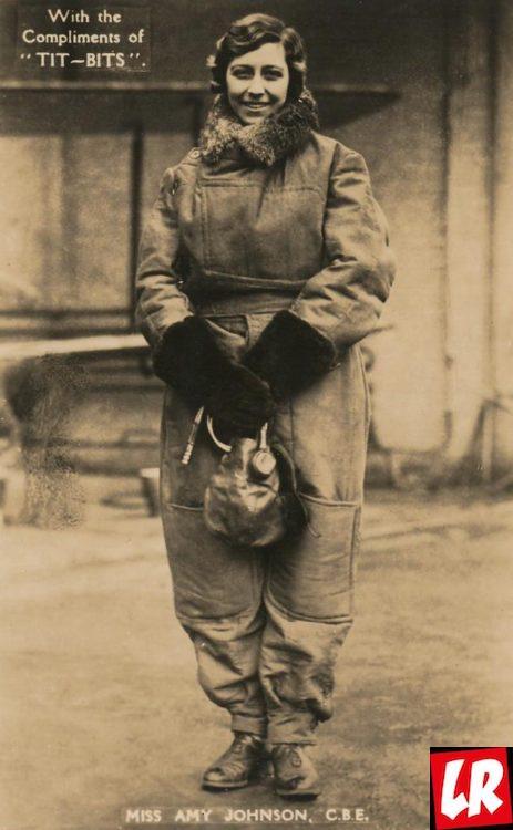 Эми Джонсон, портрет, летчица, Женские истории