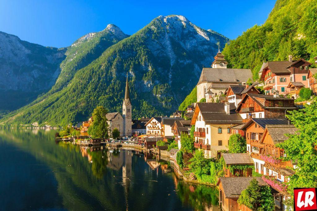 отдых, покой, Австрия, река, путешествие, горы, туризм, ЮНЕСКО, озеро