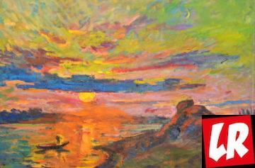 рассвет, пейзаж, Василий Забашта, художник, море, живопись, Украина