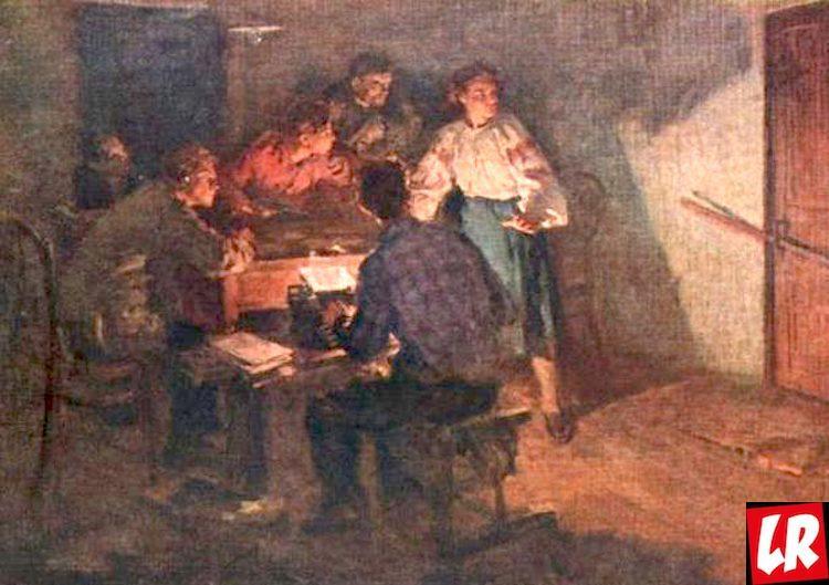 Василий Забашта, картина, В годы подполья