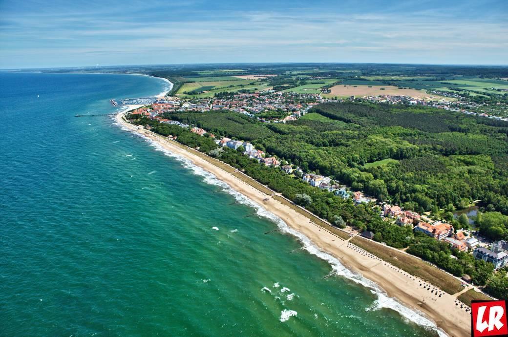 пляж, море, Кюлунгсборн, Германия, Балтийские море, база отдыха, пейзаж