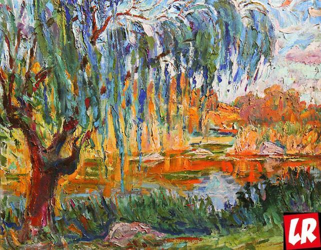 пейзаж, Песня старой вербы, картина, Забашта,