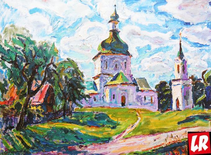 пейзаж, Василий Забашта, художник, живопись, Украина, церковь