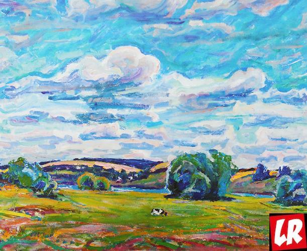 пейзаж, Василий Забашта, художник, живопись, Украина,  облака, красота