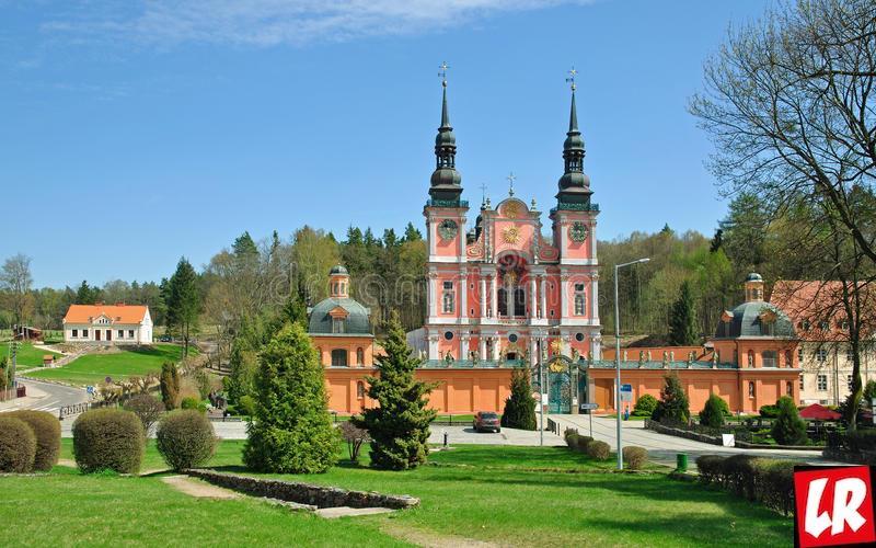 костел, церковь, Польша, Мазурия, Святая Липка, паломническая церковь