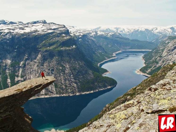 фишки дня - 12 июля, Язык Тролля, Норвегия, фьорды