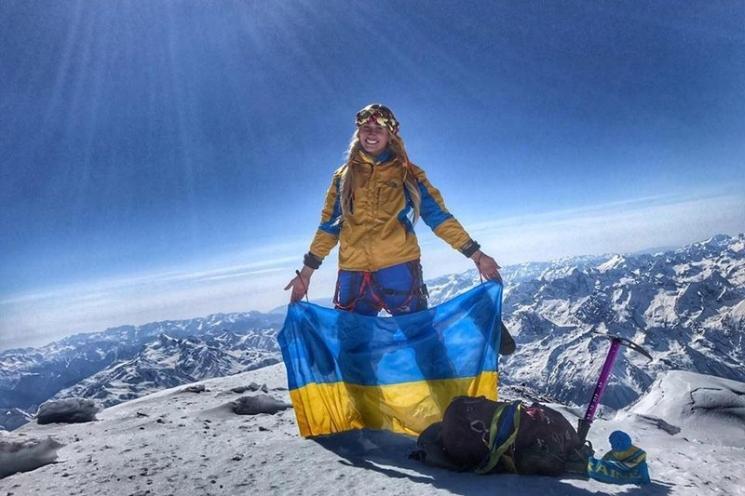 фишки дня - 23 августа, Ирина Галай, флаг Украины на Эвересте