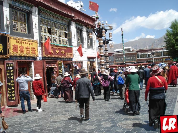 Лхаса, паломники, монастырь Джокханг, Баркхор