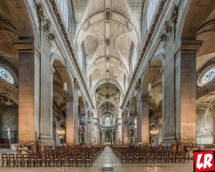 Сен-Сюльпис, церковь, Латинский квартал, Париж, интерьеры