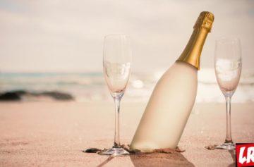шампанское, море, бокалы