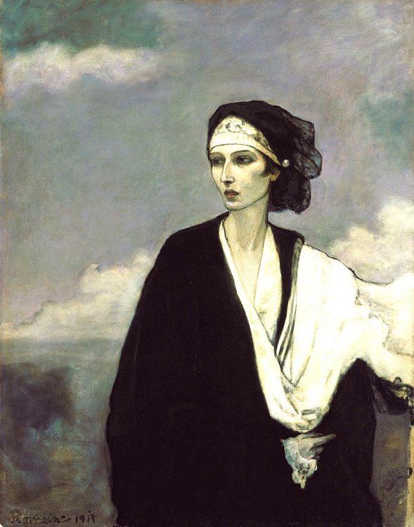 Ромейн Брукс, портрет, балерина Ида Рубинштейн