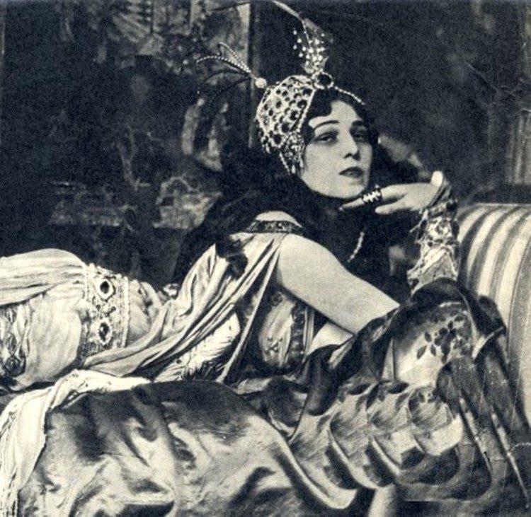 старое фото, старинная фотография, балерина Ида Рубинштейн