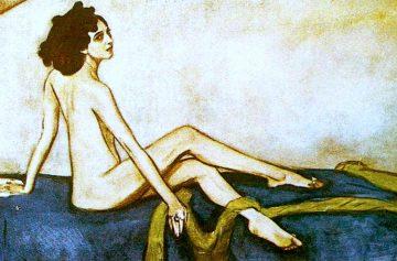 балерина ида рубинштейн, портрет серова, картина Серова