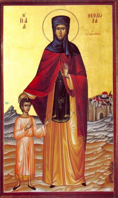 икона, Феодора Александрийская святая, православный праздник