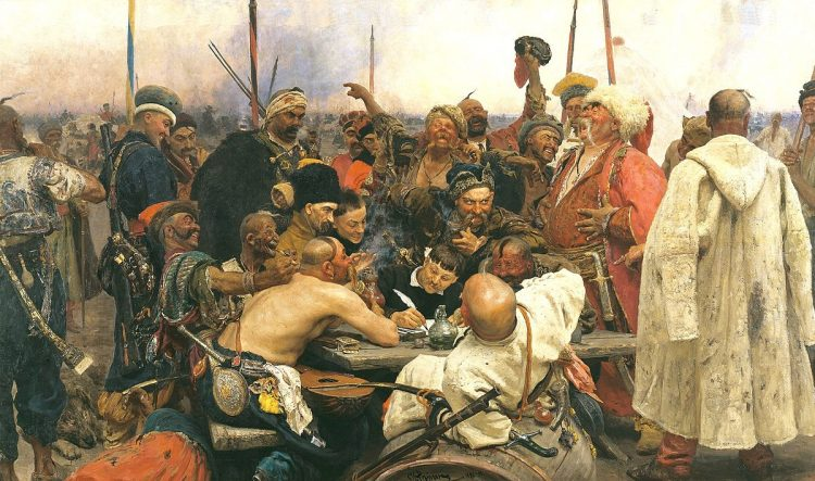 казаки, запорожцы, письмо султану, картина