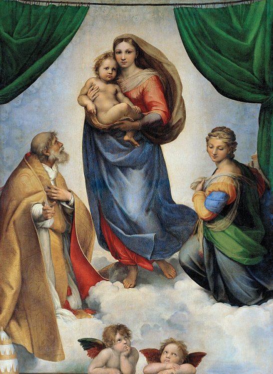 святая Варвара, Сикстинская мадонна Рафаэля