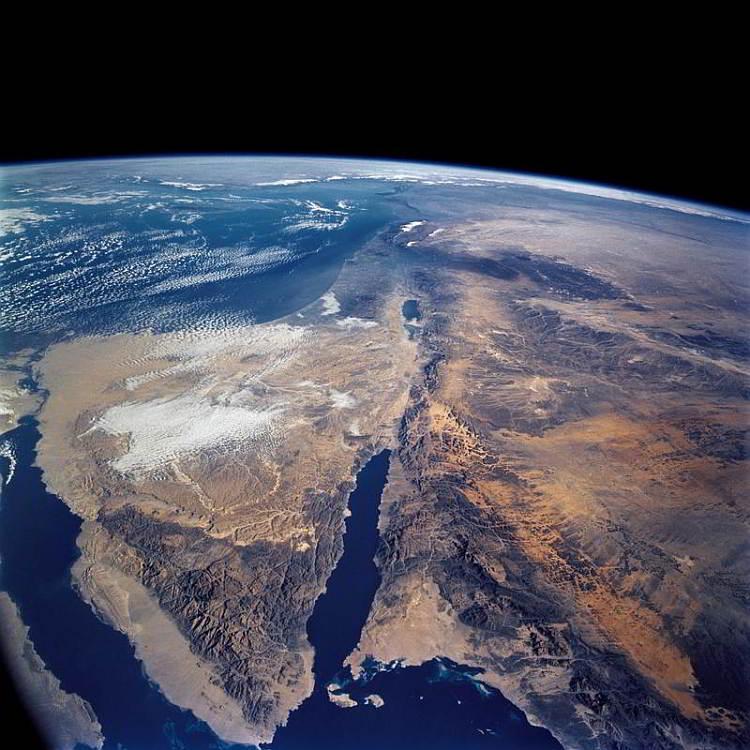 рифтовый разлом, Левант, космос, планета Земля